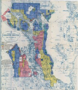 Commercial map of greater Seattle 1936