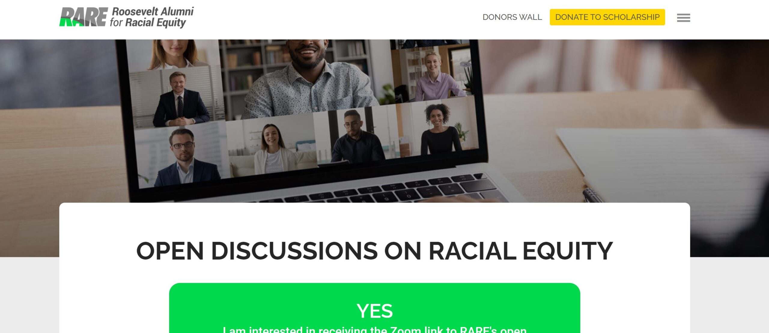 New Web Page Details Open Discussions on Race